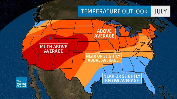 July Temperature Outlook: Hot Temperatures Could Dominate Western and Northern States   The Weather Channel