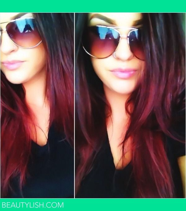 Very dramatic ombre, not for now, possibly in the future if you decide you really want to do the deep red