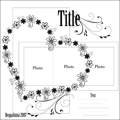 new flower - Scrapbook.com scrapbook page layout sketch