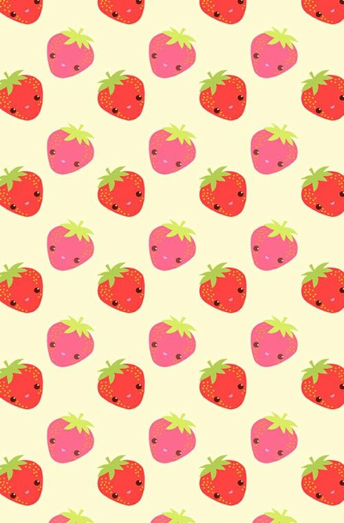 Large 500x761 Pattern WallpaperWallpaper BackgroundsIphone WallpapersStrawberryKawaii