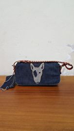 FAKE LONDON GENIUS - HANDTAS/CLUTCH - BLAUW