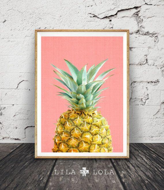 Piña para imprimir Print Tropical la pared decoración por LILAxLOLA