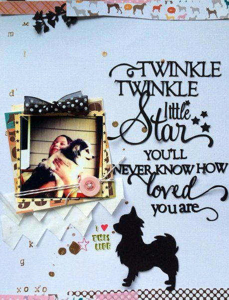 Twinkle twinkle little Star...Love the song lyrics as title/journalling, and the mixed lettering.