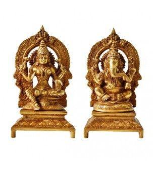 Lakshmi Ganesha Brass Statue
