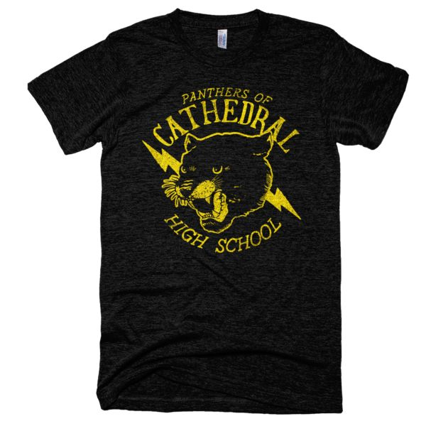 Cathedral High School Panthers T-Shirt Black