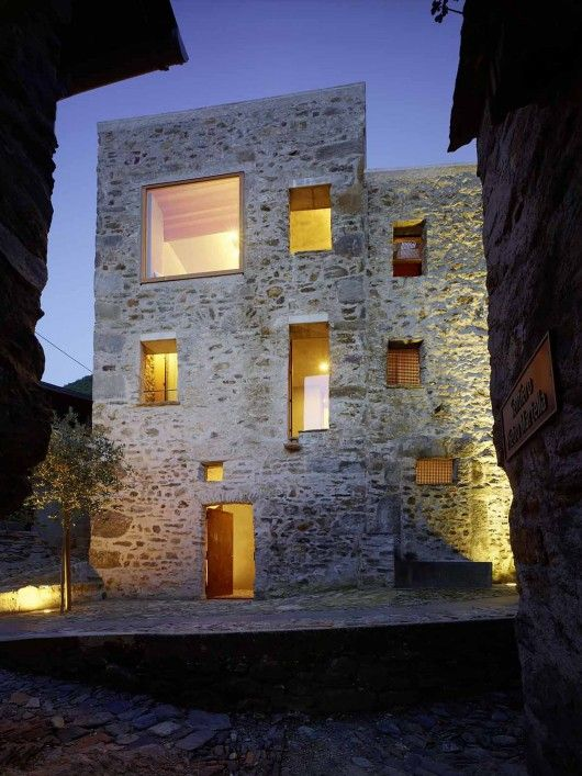 Stone House Transformation in Scaiano / Wespi de Meuron Romeo architects - Scaiano, 6578 Caviano, Switzerland