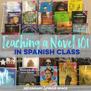 Teaching a Novel 101 | Awesome tips to get your students reading novels in class from Allison Weinhold,   Secondary Spanish Space.