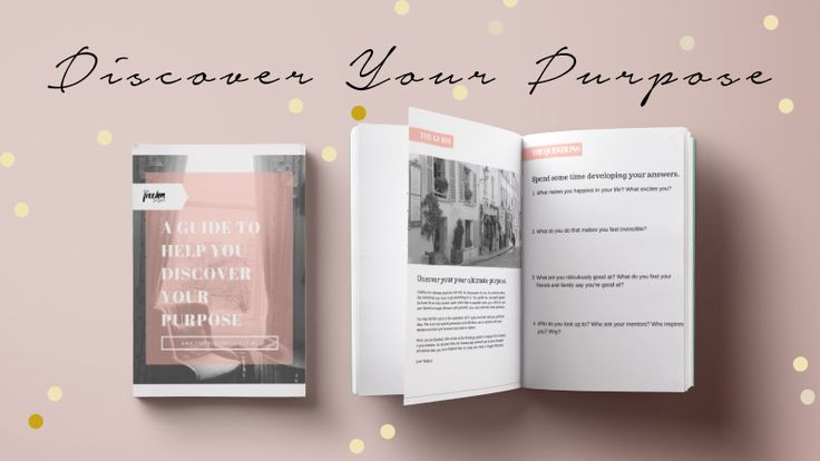 Free Guide to Help You Uncover Your Purpose Mockup