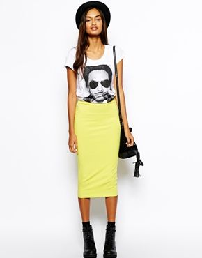 48 best images about Jersey midi skirt outfits on Pinterest | Long ...
