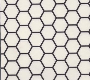 Sheet vinyl that looks like hexagonal tile from Linoleum City - Floor Covering Specialists Since 1948
