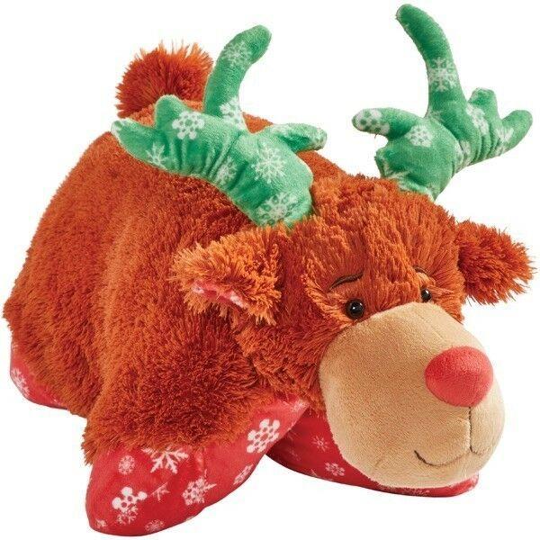 My Pillow Pets Holiday Reindeer Pillow Pet 16 Plush Pillowpets Animal Pillows Pet Holiday Reindeer Pillow