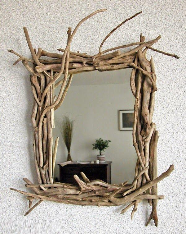 espejos con madera a la deriva decoracion con materiales reciclados