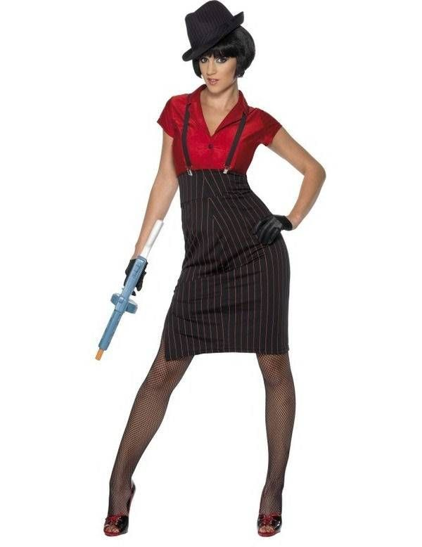 1920s Maffia kostuum dames elite
