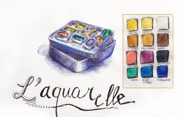 Mes Outils Carnet De Dessin Conseils Aquarelle Et Cours De Dessin