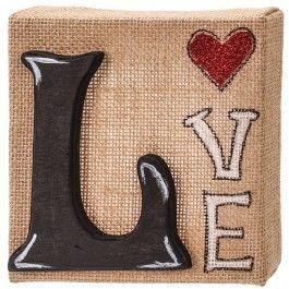 Nicole™ Crafts Love Burlap Canvas