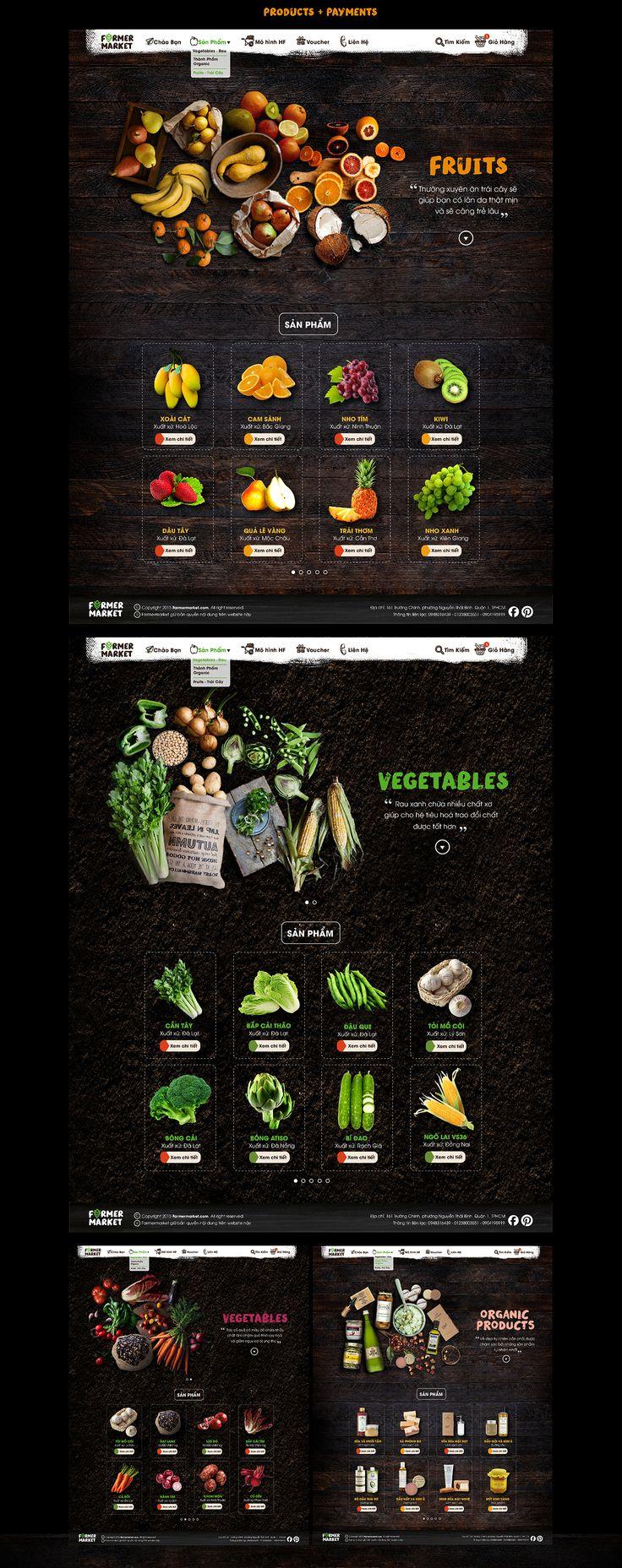 FARMER MARKET   Food Commercial   Web Design on Behance