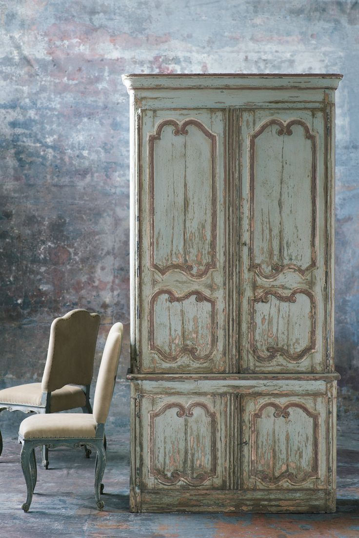 RLH Louis XV Armoire & Rococo Dining Chair   #RLHCollection