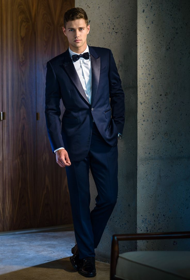 Burberry Prorsum Sleek Suit In Midnight Blue Burberry