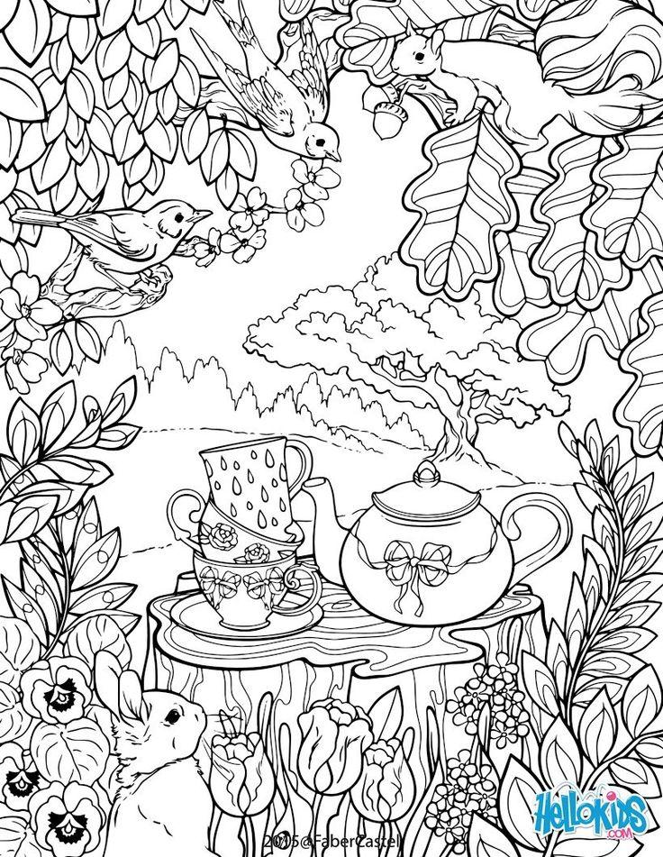 Dibujo para colorear : Mandala el jardìn secreto