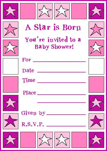 18 best baby shower ideas images on Pinterest Baby girl shower - free baby shower invitation templates for word