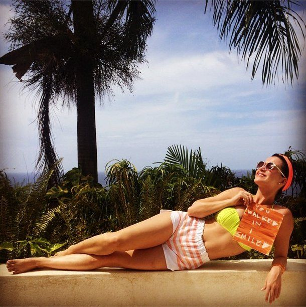 Pin for Later: Katy Perry Flaunts Her Bikini Body in a Yellow Two-Piece