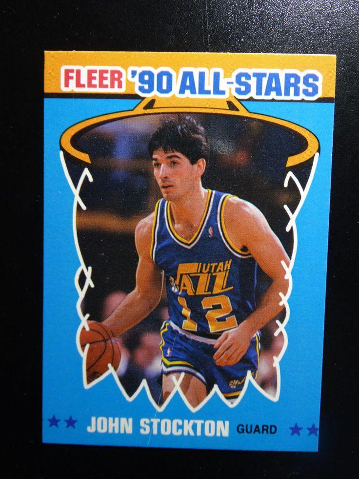 199091 Fleer 9 John Stockton All Stars Utah Jazz