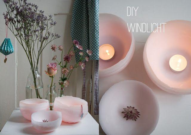 DIY Windlicht aus Wachs