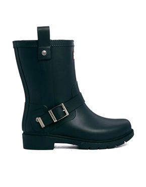 Immagine 1 di Hunter - Shoreditch - Stivali da pioggia neri con fibbia