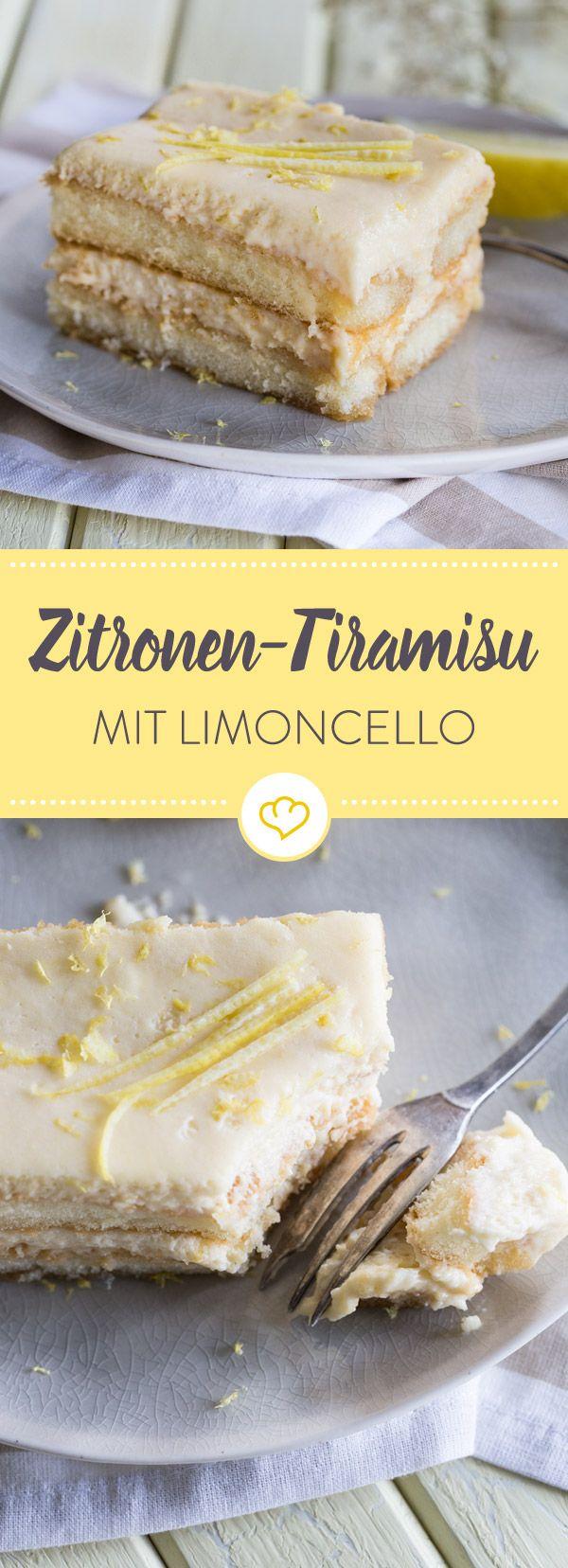 Bei diesem Zitronen-Tiramisu mit Limoncello verwandelt sich der italienische Klassiker in ein köstliches Sommer Dessert, dass herrlich erfrischend schmeckt.