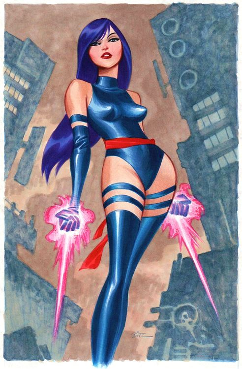 Psylocke by Bruce Timm  --- I love Bruce Timm's artwork. ---