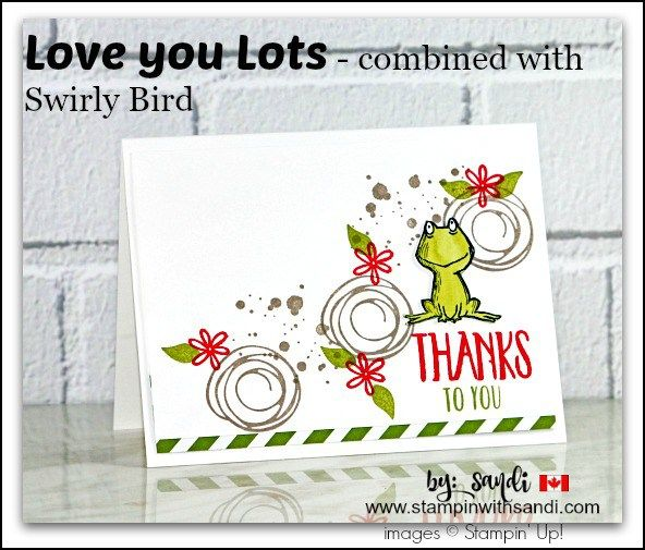 Love you lots frog card by Sandi @ www.stampinwithsandi.com