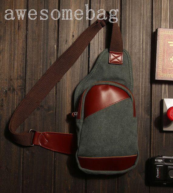 Leather Chest Bag/Messenger Bag/Shoulder Bag/IPad by AWESOMEBAG, $29.99 Leather Craft, Leather Bag, Satchel, Crossbody Bag, Waist Pouch, Backpack Bags, Messenger Bag, Backpacks, Shoulder Bag