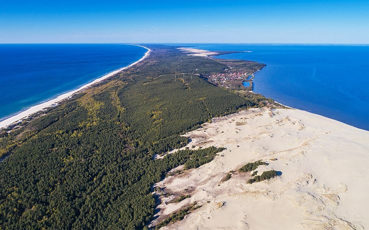 Curonian Spit NP 05-2017 img17 aerial view at Epha Dune - Baltic Sea - Wikipedia
