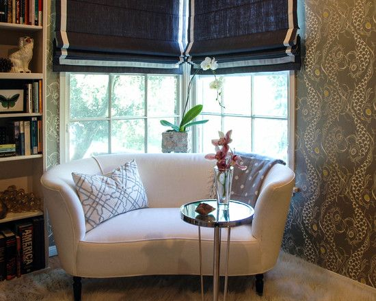excellent yet inspiring window sitting for traditional bedroom completed with white curved loveseat with rounded side - Curved Loveseat