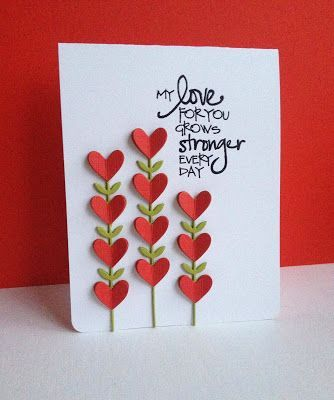 470 best handmade card making ideas images on pinterest awesome heart flowers top layer hearts were embossed to add texture solutioingenieria Gallery