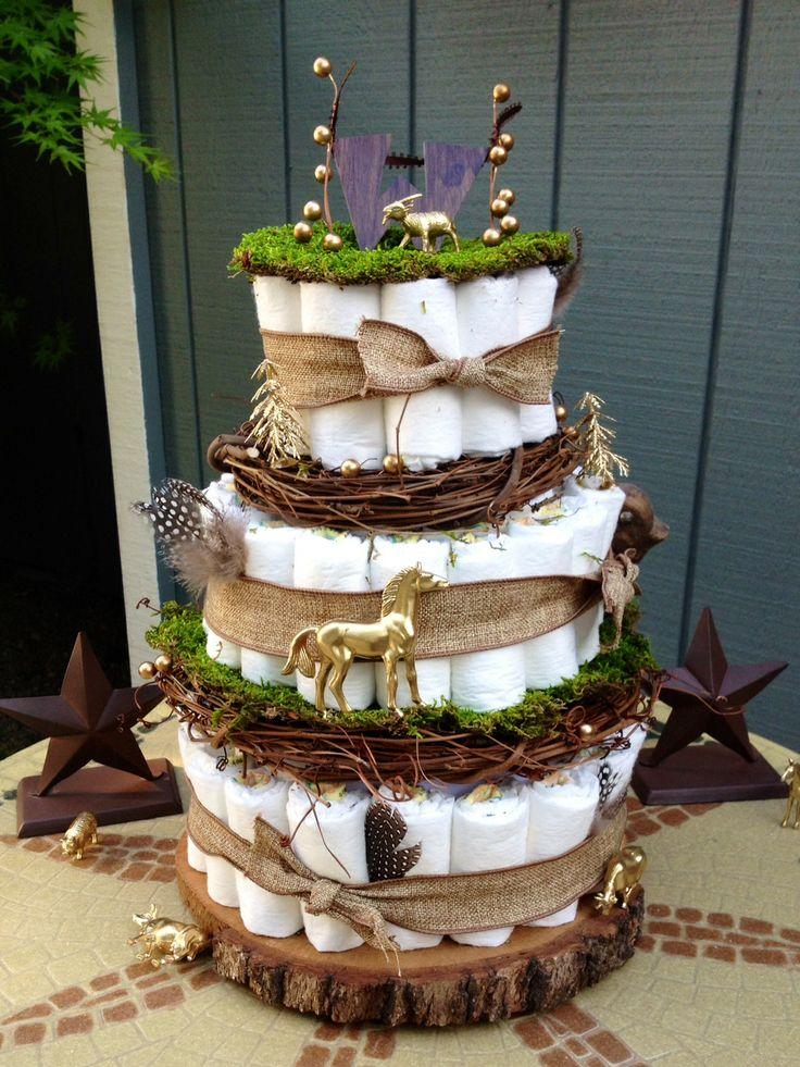 a magical, woodland diaper cake @Kelly Teske Goldsworthy Teske Goldsworthy Garrett Lebsock