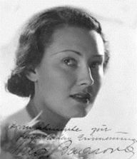 Lida Baarova, born Ludmila Babková, on 07-09-1914, in Prague, Czech actress and mistress of Joseph Goebbels