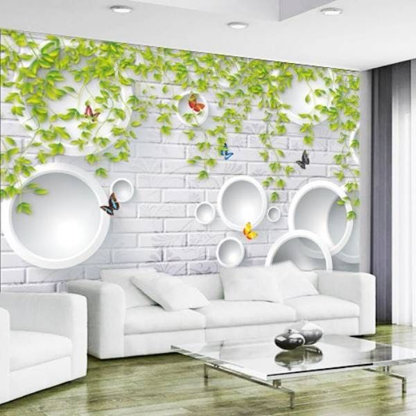 Terbaru 17 Wallpaper Daun Putih Di 2020 Mural Dinding Dinding Bata Mural