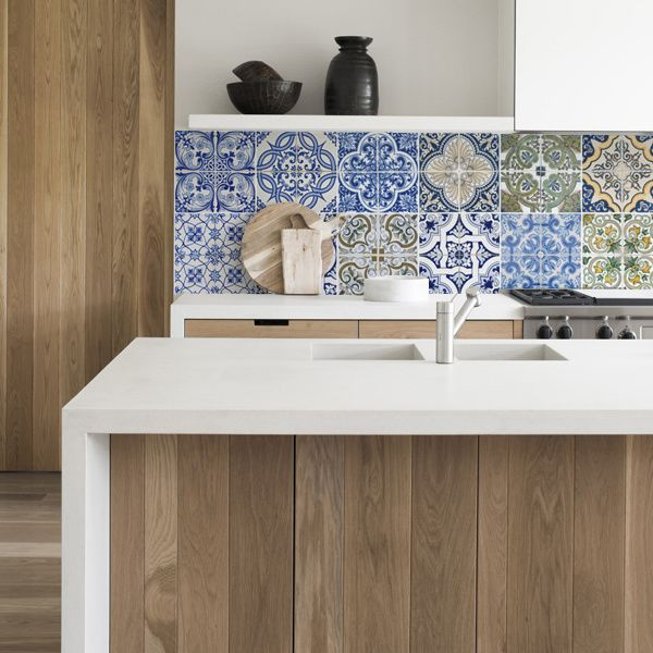 kitchen walls keukenbehang portugese tegels