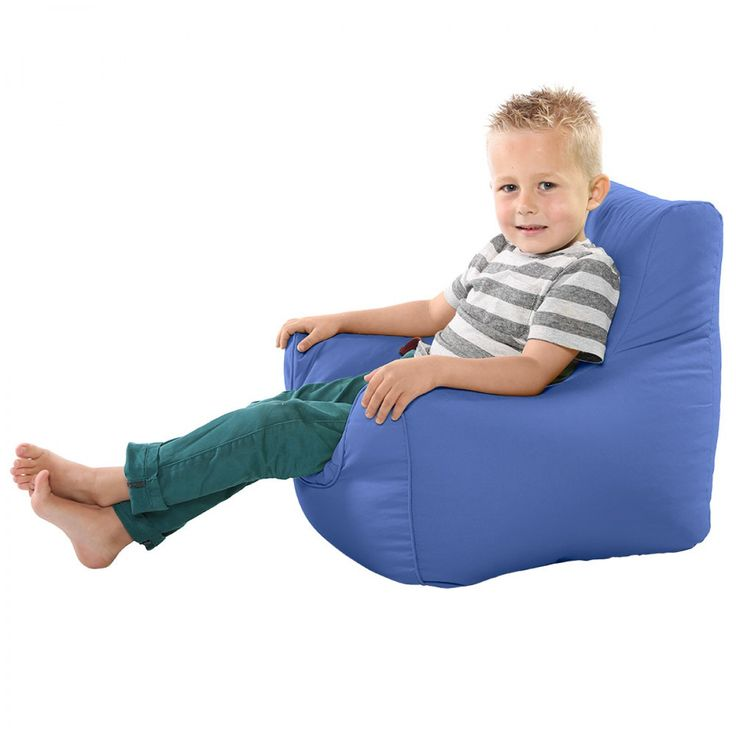 Comfy Toddler Armchair Denim Blue Beanbag Chair