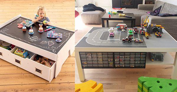 Kinder sollen nach Herzenslust spielen können, weil das gut ist für ihre Entwicklung. Manchmal bringt das aber auch viel Unordnung  und Chaos im und um das Haus mit sich. Wir haben für Dich 12 hübsche Ideen für tolle Spieltische, an denen die Kind...