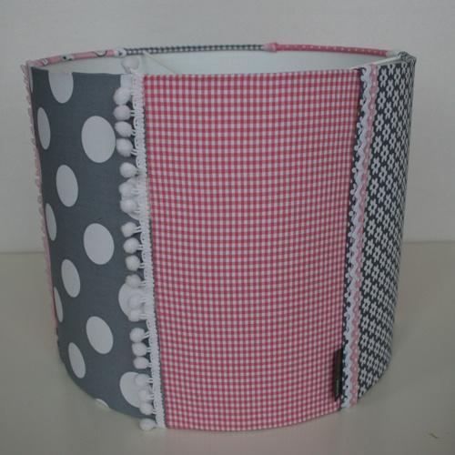 ... hanglamp grijs met roze lampenkap kinderkamer lamp kinderkamer