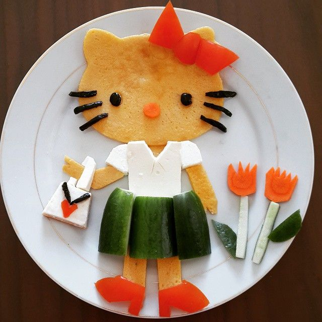 Hello Kitty pancake by @colorfulmummy