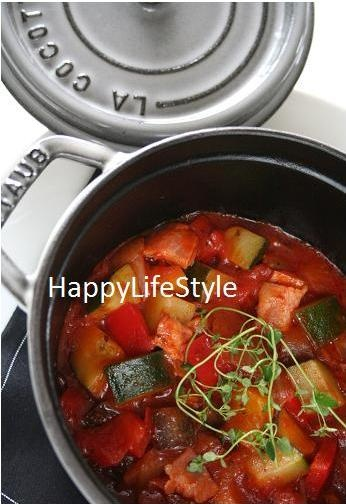 <STAUB> ラタトゥイユ #recipes #staub