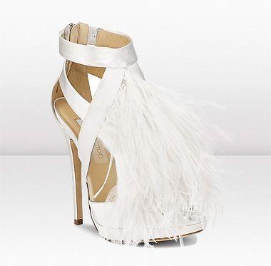 { Large image of Teazer   - Jimmy Choo White Wedding Shoe }