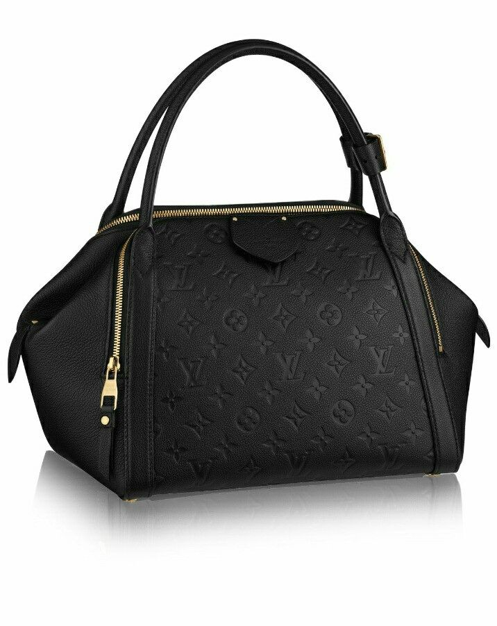 Louis vuitton  MARAIS MM  M41040  A restyling of the classic bowling bag, the Marais MM boasts a real contemporary feel in supple Monogram Empreinte leather. Organised and spacious, its casual chic style is perfect for everyday life $3400