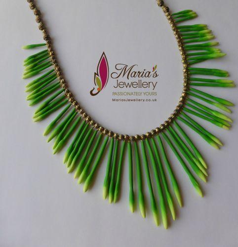 Wild Jasmine bud Necklace  Polymer clay