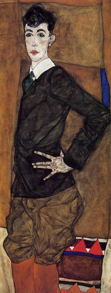 Portrait of Erich Lederer. Egon Schiele, 1912