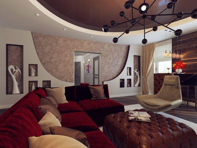 Интерьер квартиры с элементами стиля модерн в г. Пушкин
