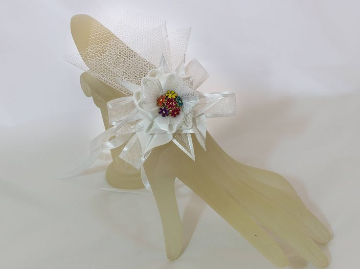 A personal favourite from my Etsy shop https://www.etsy.com/ie/listing/575726363/pretty-white-kanzashi-flower-wrist